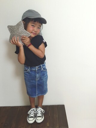 tsugumonさんの「クラシック チノ ベースボール キャップ(POLO KIDS|ポロ キッズ)」を使ったコーディネート
