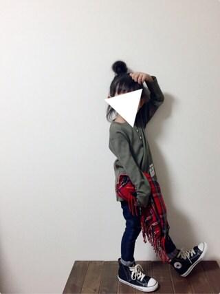 tsugumonさんの「キッズヘンリーネックシャツ(MAISON DE REEFUR|メゾンドリーファー)」を使ったコーディネート