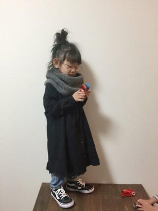 tsugumonさんの「リネンフレアワンピース (100~120cm)(A BOND|アボンド)」を使ったコーディネート