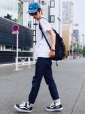 yuumaさんの「VANS ヴァンズ OLD SKOOL オールドスクール V36CL CVS BLACK(VANS|バンズ)」を使ったコーディネート