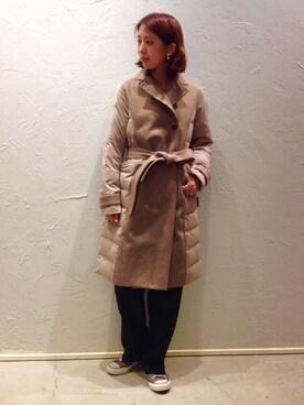 actuel 池袋esola店|nozomiさんの「【粧う/YOSOOU/ヨソオウ】Tailored Coat(YOSOOU|アクチュエル)」を使ったコーディネート