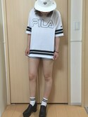「WEGO Button Front Roll Up Denim Shorts(WEGO)」 using this あいちよん looks