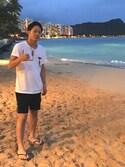 なかちゃそさんの「【havaianas(ハワイアナス)】havaianas BRASIL LOGO(ブラジルロゴ)ビーチサンダル メンズ 水着用(havaianas ハワイアナス)」を使ったコーディネート