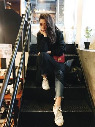 伊波芳杏 よっぴーさんの「レースプリーツスカート(TODAYFUL|トゥデイフル)」を使ったコーディネート