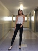 「Pull&Bear Esprit Paneled Leggings - Black(Pull&Bear)」 using this Susan.S looks