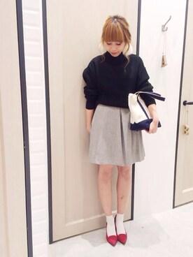 Sakurai Miuさんの「【瀬戸晴加さん着用】せとはる×UNRELISHコラボ アゼドロップニット(UNRELISH)」を使ったコーディネート