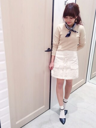 Sakurai Miuさんの「アンクルストラップパンプス(UNRELISH|アンレリッシュ)」を使ったコーディネート