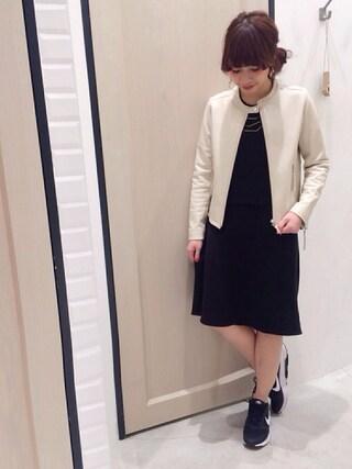 Sakurai Miuさんの「レザーシングルライダース(UNRELISH|アンレリッシュ)」を使ったコーディネート