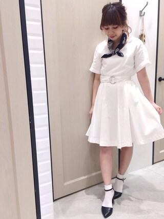 Sakurai Miuさんの「タイプライターワンピース(UNRELISH|アンレリッシュ)」を使ったコーディネート