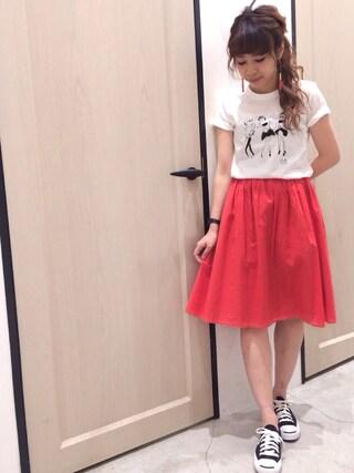 Sakurai Miuさんの「LADYTシャツ(UNRELISH|アンレリッシュ)」を使ったコーディネート