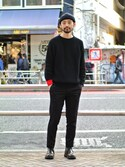 Timeisonさんの「【FOOT PATH COTTON SWEATER】(Time is on|タイムイズオン)」を使ったコーディネート