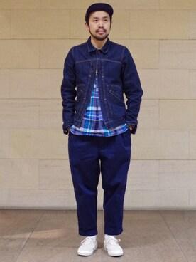 ビームス 阿倍野|Ikuo Mitaniさんの「CONVERSE×BEAMS PLUS / 別注 SKID GRIP(CONVERSE)」を使ったコーディネート