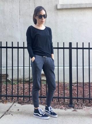 「Vans Sk8-Hi Decon Sneaker(Vans)」 using this Audrey Altmann looks