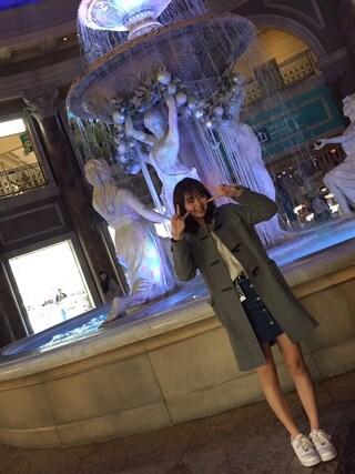 江野沢愛美 さんの「ロングダッフルコート 565283(Heather|ヘザー)」を使ったコーディネート