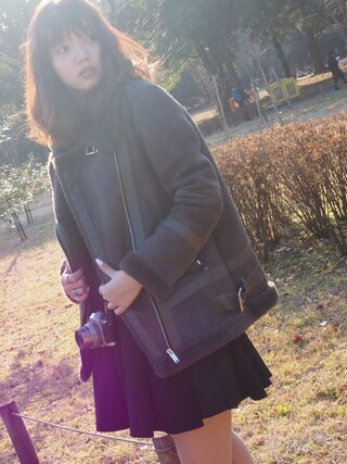 江野沢愛美 さんの「リブタートル/ニット-2015AW-(INGNI|イング)」を使ったコーディネート