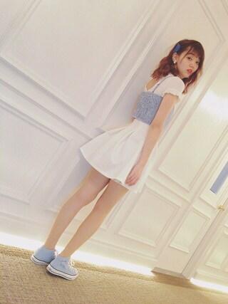 江野沢愛美 さんの「Medley / ハート バレッタ(Ray BEAMS|レイビームス)」を使ったコーディネート