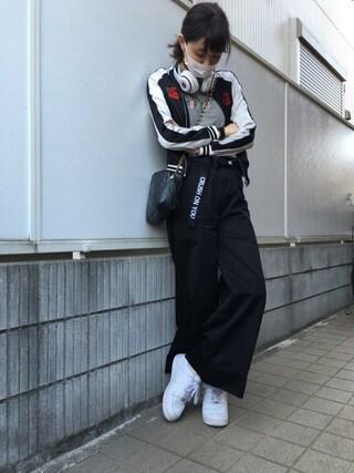 江野沢愛美 さんの「SOUVENIR JACKET(MOUSSY|マウジー)」を使ったコーディネート