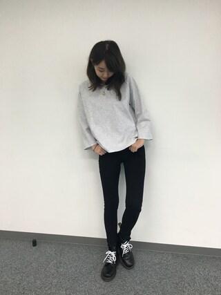 江野沢愛美 さんの「バックテープホールドトップス(STYLENANDA|スタイルナンダ)」を使ったコーディネート