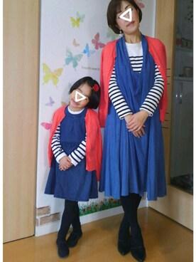 mintoさんの「サイズ:娘S(6-7)/母XL(12)(GAP KIDS)」を使ったコーディネート