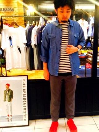 SIXTY ONE ARROW ミント神戸店|岡崎優一さんの(KATO`|カトー)を使ったコーディネート