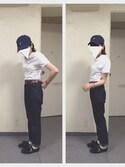 yukiさんの「かのこ リボン付きポロシャツ(Dot&Stripes CHILD WOMAN|ドットアンドストライプス チャイルドウーマン)」を使ったコーディネート