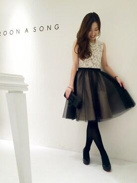 CROON A SONG 神戸大丸(レディス&メンズ)|Wさんの「ラインバックルクラッチBAG(CROON A SONG)」を使ったコーディネート