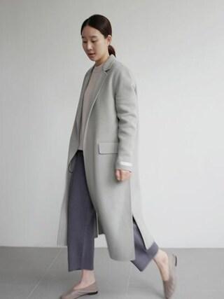 holicholic|holicholicさんの「クラシックウール混ロングコート」を使ったコーディネート