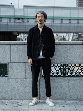アーバンリサーチ 堀江店|otsukiさんの「Rohw×UR BASQUE BERET(URBAN RESEARCH)」を使ったコーディネート