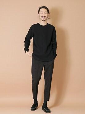 アーバンリサーチ 堀江店|otsukiさんの「クルーネック度詰めワッフルビックロングTシャツ(URBAN RESEARCH)」を使ったコーディネート