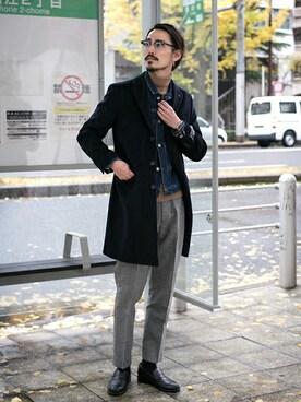 アーバンリサーチ 堀江店|otsukiさんの「UR PONTETORTO CHESTER COAT(URBAN RESEARCH)」を使ったコーディネート