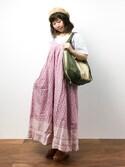 ノ  ン  タ  ンさんの「PBPオーガニックコットン haco!旅するキャミワンピース made in INDIA(haco!|ハコ)」を使ったコーディネート