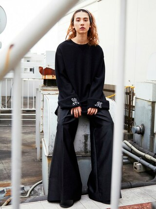 PAMEO POSE CONCEPT SHOP|PAMEO POSEさんの「TUCK WIDE TROUSERS(PAMEO POSE|パメオポーズ)」を使ったコーディネート