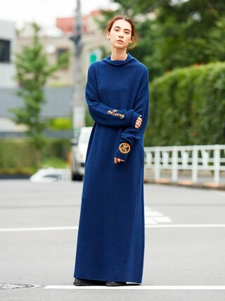 PAMEO POSE CONCEPT SHOP|PAMEO POSEさんの「EMBROIDERED KNIT DRESS(PAMEO POSE|パメオポーズ)」を使ったコーディネート