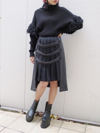 PAMEO POSE CONCEPT SHOP|PAMEO POSEさんの「HYPNOS EAR WINGS SLEEVE SWEATER(PAMEO POSE|パメオポーズ)」を使ったコーディネート
