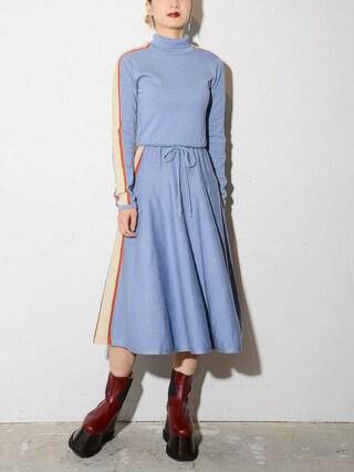 PAMEO POSE CONCEPT SHOP|PAMEO POSEさんの「【再入荷】SIDE LINE KNIT DRESS(PAMEO POSE|パメオポーズ)」を使ったコーディネート
