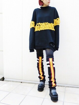 PAMEO POSE CONCEPT SHOP|PAMEO POSEさんの「BARCELONA TEAM LEGWARMERS BLACK(PAMEO POSE|パメオポーズ)」を使ったコーディネート