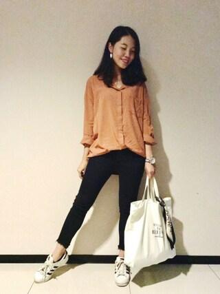 「マオカラーポケットシャツ(Ungrid)」 using this Marina looks