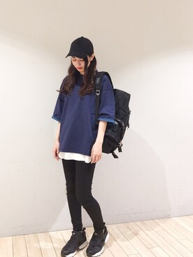 JUNRed 広島パルコ|SHIROYAMAさんの「ルーズフィットロールTシャツ(JUNRed)」を使ったコーディネート