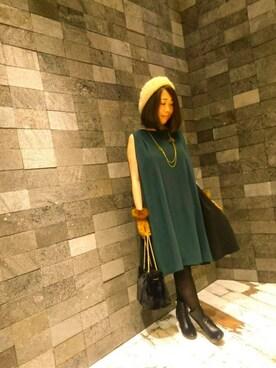 INTERPLANET WINGS 札幌パセオ店 じゅんさんの「ファーベレー帽(INTERPLANET WINGS)」を使ったコーディネート