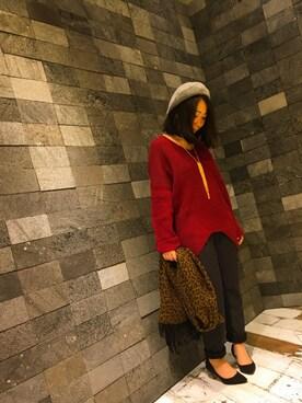 INTERPLANET WINGS 札幌パセオ店|じゅんさんの「肩畦変形VネックP/O(actuel|アクチュエル)」を使ったコーディネート