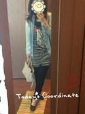☆milk☆さんの「デニム配色シャツ(GRACE CONTINENTAL|グレースコンチネンタル)」を使ったコーディネート