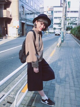 Apo Wei使用「JEANASIS(【先行予約】リブワイドスリーブプルオーバーLS/705667)」的時尚穿搭