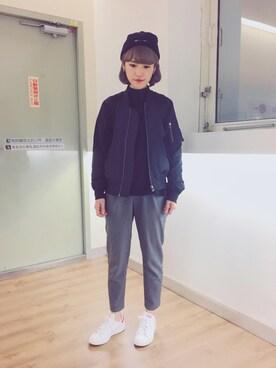 Apo Wei使用「JEANASIS(キモウポケプルオーバーLS/712387)」的時尚穿搭