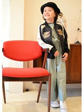 MARKEY'S|MARKEY'Sさんのブルゾン「スカジャン (80〜120cm)(BIG FIELD|ビッグフィールド)」を使ったコーディネート