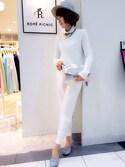 aikoさんの「ラウンドカラー付け襟(ROPE' PICNIC|ロペピクニック)」を使ったコーディネート