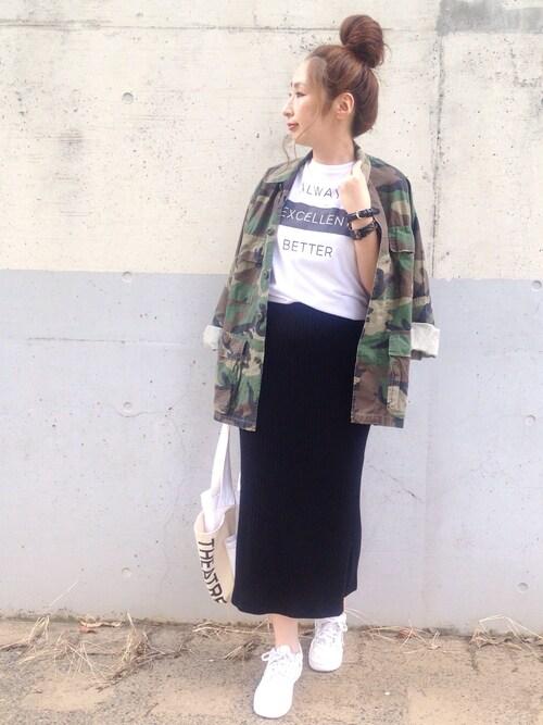 maiko さんの「【ROTHCO/ロスコ】BDU SHIETS H.WASH:ミリタリーシャツジャケット(ROTHCO)」を使ったコーディネート