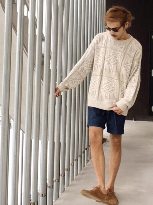 HidekiYoshiokaさんのニット・セーター「Summer Knit Used 」を使ったコーディネート
