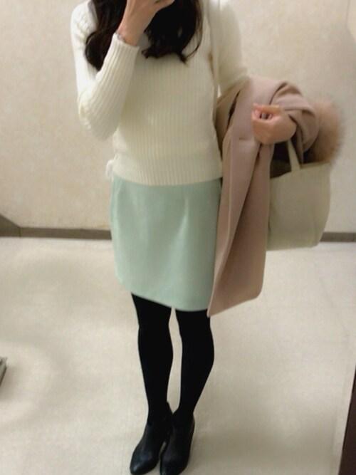 Mikiさんの「フェイクスエード台形スカート(dazzlin)」を使ったコーディネート