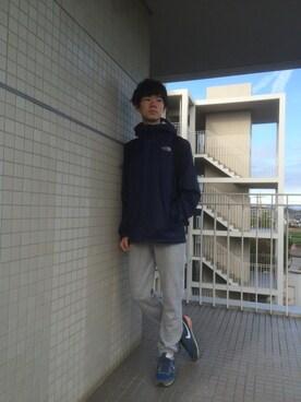 Haruki│THE NORTH FACEのマウンテンパーカーコーディネート