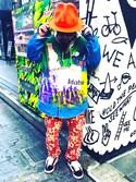 SHUHEI@DOIT君さんの「WEGO/カラー起毛プルパーカー(WEGO|ウィゴー)」を使ったコーディネート